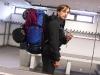Mit Gepäck