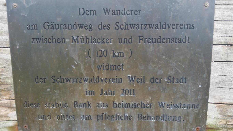 018 Gäurandweg - Dem Wanderer gewidmet