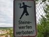 003 Gäurandweg - Steine werfen verboten
