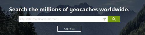 Suchfunktion geocaching.com