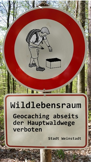 Geocaching Verbot