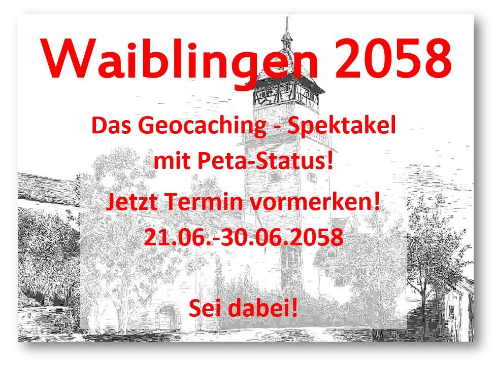 Geocaching-Event mit Peta-Status: Waiblingen 2058