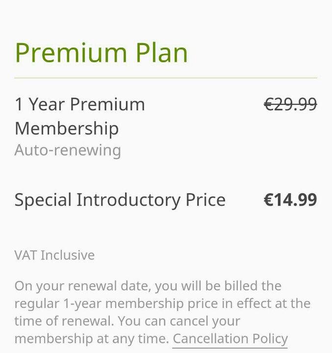 Premium-Mitgliedschaft billiger