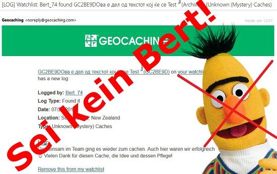 Sei kein Bert!
