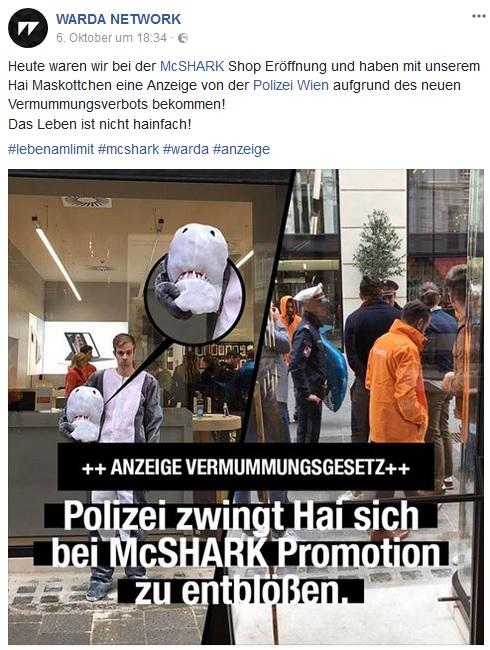 Hai muss in Österreich blank ziehen