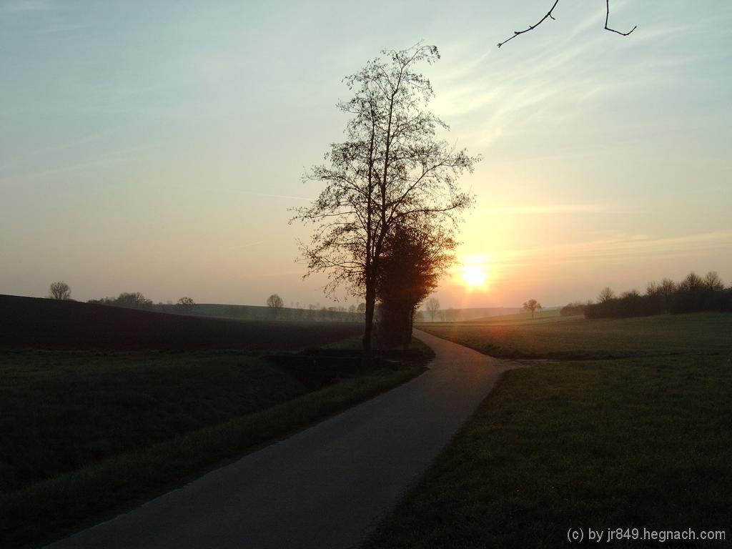 Sonnenaufgang auf dem Weg zum FTF